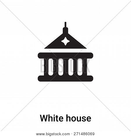 White House Icon In Trendy Design Style. White House Icon Isolated On White Background. White House