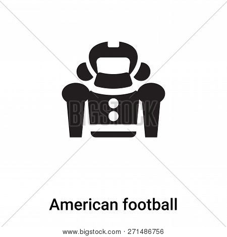 American Football Icon In Trendy Design Style. American Football Icon Isolated On White Background.