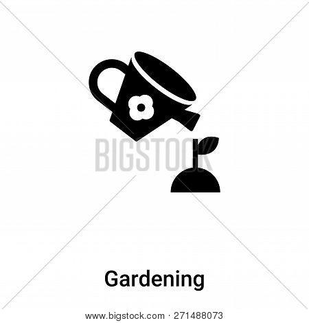 Gardening Icon In Trendy Design Style. Gardening Icon Isolated On White Background. Gardening Vector