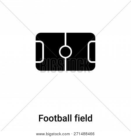 Football Field Icon In Trendy Design Style. Football Field Icon Isolated On White Background. Footba