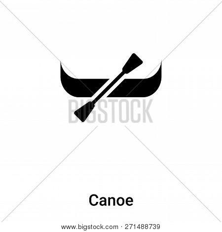 Canoe Icon In Trendy Design Style. Canoe Icon Isolated On White Background. Canoe Vector Icon Simple