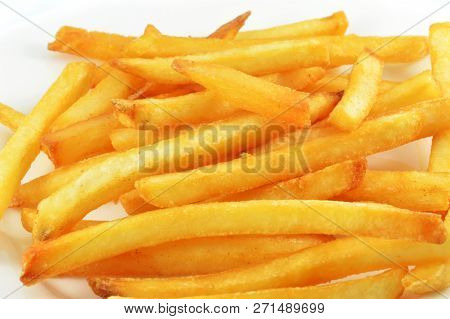 French Fries Isolated / Fry Potato Isolated On White Background