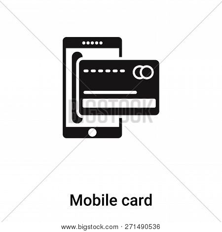 Mobile Card Icon In Trendy Design Style. Mobile Card Icon Isolated On White Background. Mobile Card
