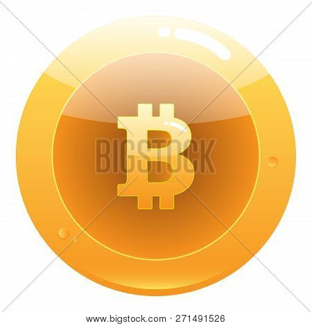 Bitcoin Flat Icon. Crypto Currency Bit Coin.