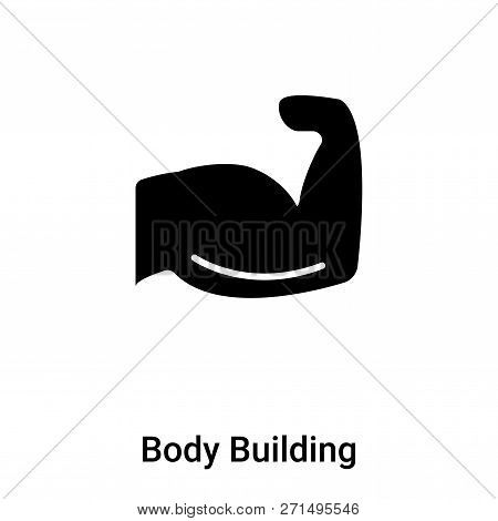 Body Building Icon In Trendy Design Style. Body Building Icon Isolated On White Background. Body Bui