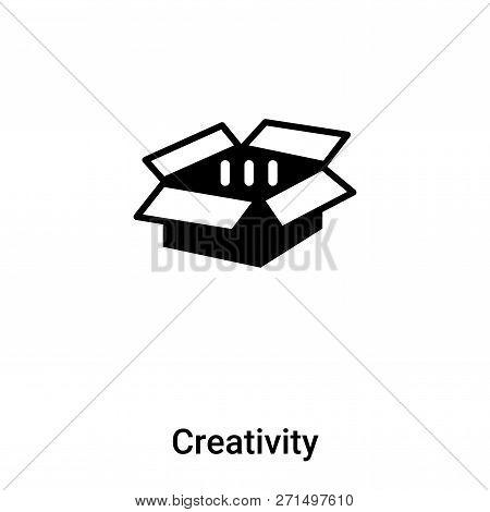 Creativity Icon In Trendy Design Style. Creativity Icon Isolated On White Background. Creativity Vec