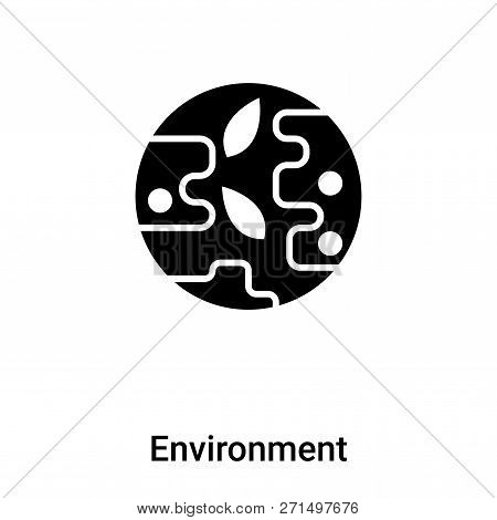 Environment Icon In Trendy Design Style. Environment Icon Isolated On White Background. Environment