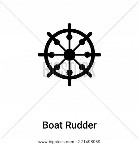 Boat Rudder Icon In Trendy Design Style. Boat Rudder Icon Isolated On White Background. Boat Rudder