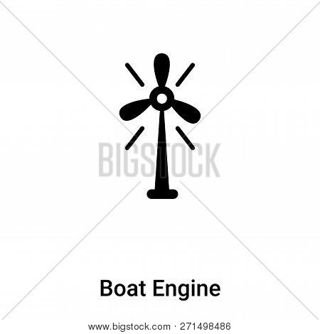 Boat Engine Icon In Trendy Design Style. Boat Engine Icon Isolated On White Background. Boat Engine