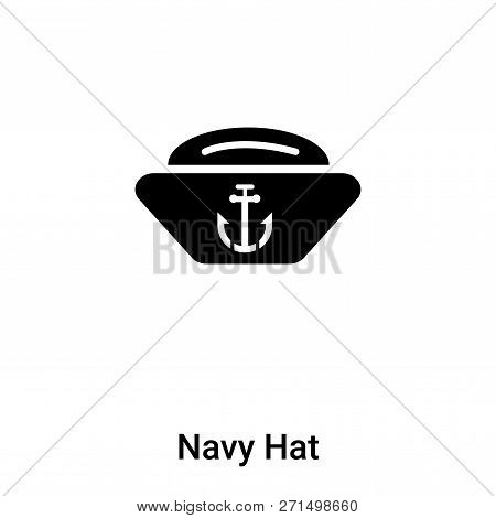 Navy Hat Icon In Trendy Design Style. Navy Hat Icon Isolated On White Background. Navy Hat Vector Ic