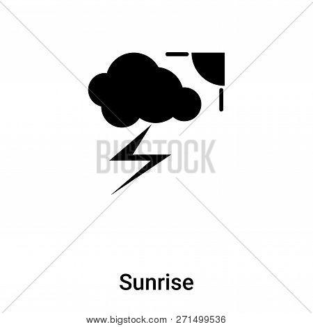 Sunrise Icon In Trendy Design Style. Sunrise Icon Isolated On White Background. Sunrise Vector Icon