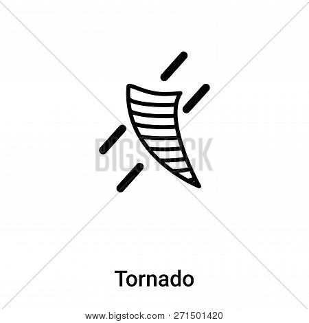 Tornado Icon In Trendy Design Style. Tornado Icon Isolated On White Background. Tornado Vector Icon