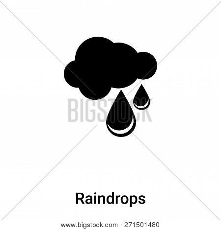 Raindrops Icon In Trendy Design Style. Raindrops Icon Isolated On White Background. Raindrops Vector