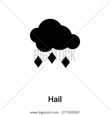 Hail Icon In Trendy Design Style. Hail Icon Isolated On White Background. Hail Vector Icon Simple An