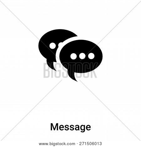 Message Icon In Trendy Design Style. Message Icon Isolated On White Background. Message Vector Icon