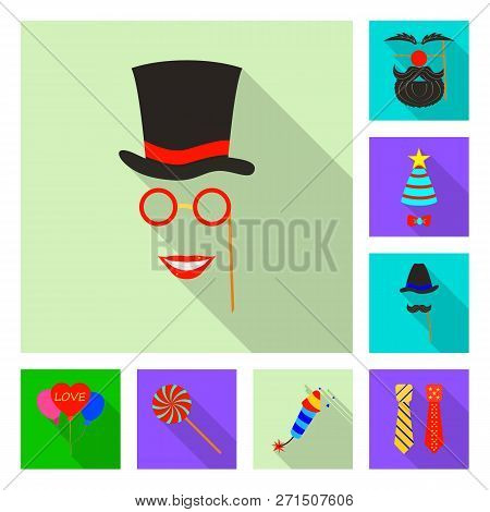 Isolated Object Of Party And Birthday Icon. Collection Of Party And Celebration Stock Symbol For Web