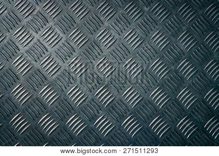 Industrial Metal Checker Plate. Metal Checker Plate Texture Background. Metal Checkerplate For Anti