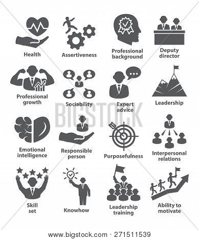 Business Management Icons Pack 46 Icons For Leadership, Director, Career
