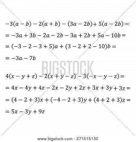 An Example Of An Algebraic Problem Of Opening Brackets Multiplication Of Polynomials And Monomials I
