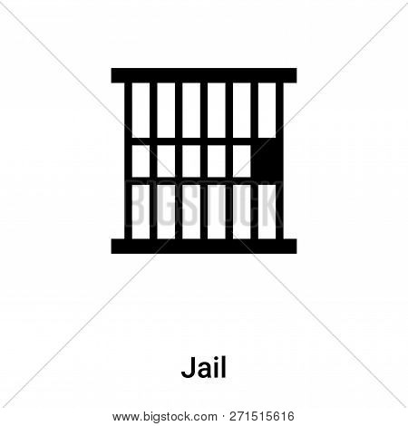 Jail Icon In Trendy Design Style. Jail Icon Isolated On White Background. Jail Vector Icon Simple An