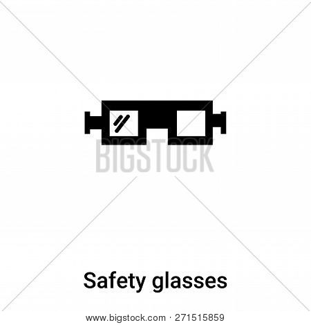 Safety Glasses Icon In Trendy Design Style. Safety Glasses Icon Isolated On White Background. Safety