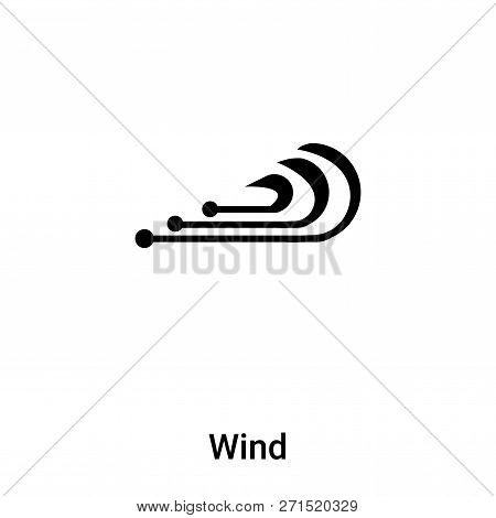 Wind Icon In Trendy Design Style. Wind Icon Isolated On White Background. Wind Vector Icon Simple An