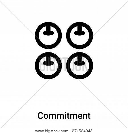 Commitment Icon In Trendy Design Style. Commitment Icon Isolated On White Background. Commitment Vec