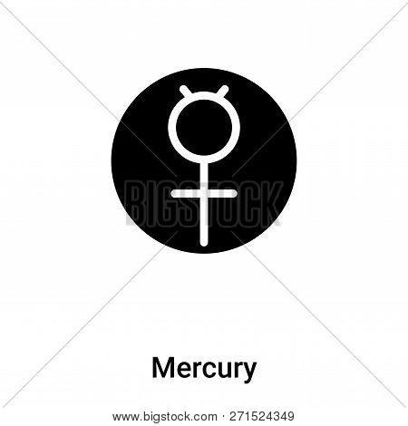 Mercury Icon In Trendy Design Style. Mercury Icon Isolated On White Background. Mercury Vector Icon