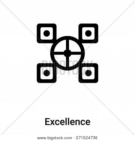 Excellence Icon In Trendy Design Style. Excellence Icon Isolated On White Background. Excellence Vec