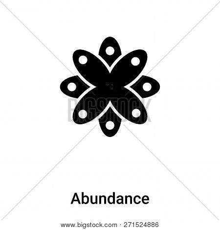 Abundance Icon In Trendy Design Style. Abundance Icon Isolated On White Background. Abundance Vector