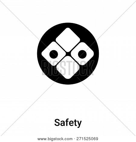 Safety Icon In Trendy Design Style. Safety Icon Isolated On White Background. Safety Vector Icon Sim