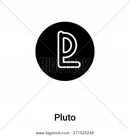 Pluto Icon In Trendy Design Style. Pluto Icon Isolated On White Background. Pluto Vector Icon Simple
