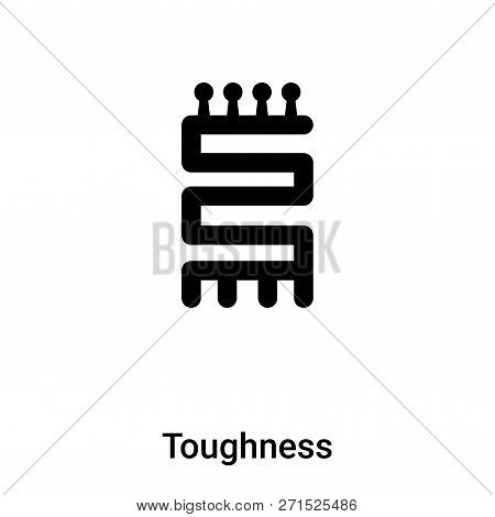 Toughness Icon In Trendy Design Style. Toughness Icon Isolated On White Background. Toughness Vector