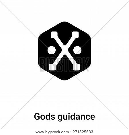 Gods Guidance Icon In Trendy Design Style. Gods Guidance Icon Isolated On White Background. Gods Gui