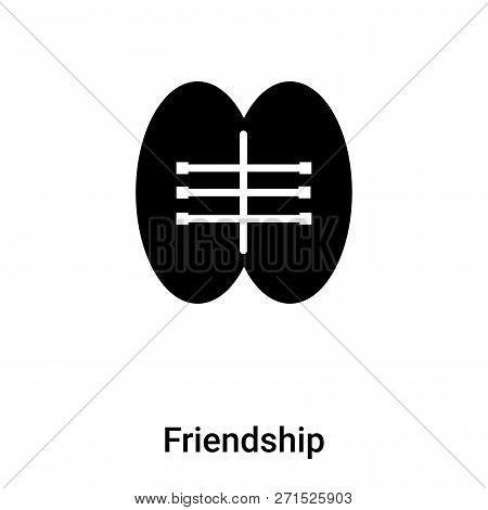 Friendship Icon In Trendy Design Style. Friendship Icon Isolated On White Background. Friendship Vec
