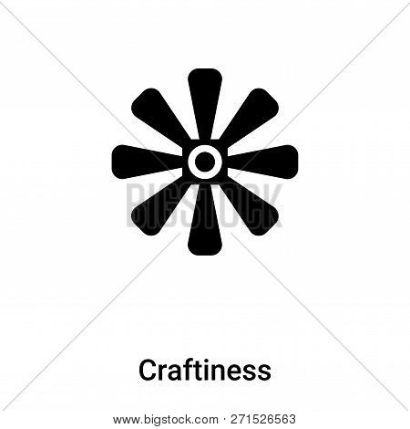 Craftiness Icon In Trendy Design Style. Craftiness Icon Isolated On White Background. Craftiness Vec