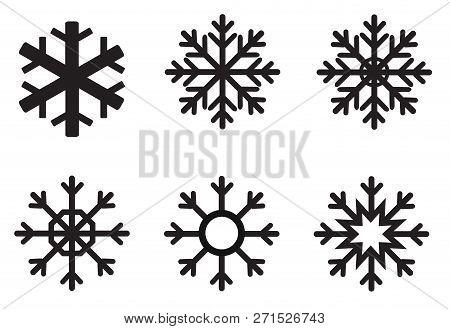 Snowflake Winter Icon On White Background. Flat Style. Snowflake Icon For Your Web Site Design, Logo