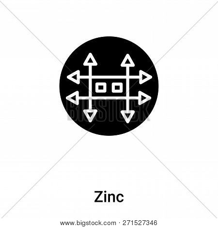 Zinc Icon In Trendy Design Style. Zinc Icon Isolated On White Background. Zinc Vector Icon Simple An