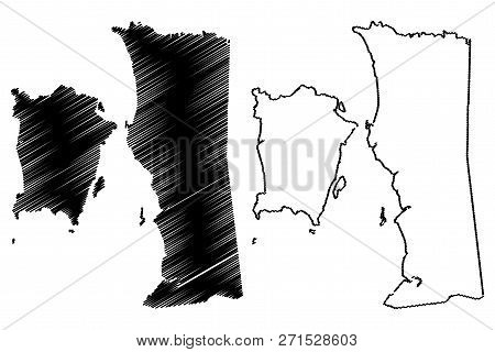 Penang (states And Federal Territories Of Malaysia, Federation Of Malaysia) Map Vector Illustration,