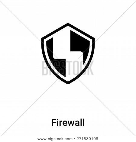 Firewall icon in trendy design style. Firewall icon isolated on white background. Firewall vector icon simple and modern flat symbol for web site, mobile, logo, app, UI. Firewall icon vector illustration, EPS10. poster