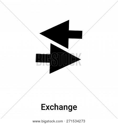 Exchange Icon In Trendy Design Style. Exchange Icon Isolated On White Background. Exchange Vector Ic