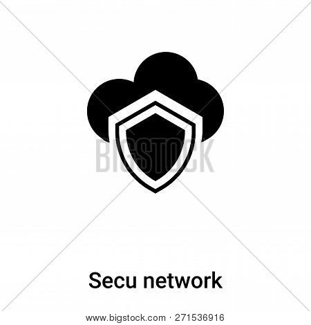 Secured Network Icon In Trendy Design Style. Secured Network Icon Isolated On White Background. Secu