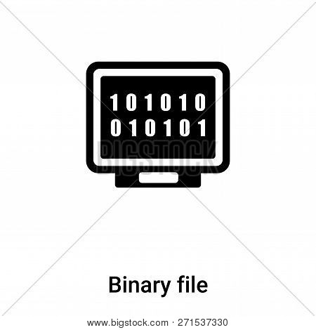 Binary File Icon In Trendy Design Style. Binary File Icon Isolated On White Background. Binary File