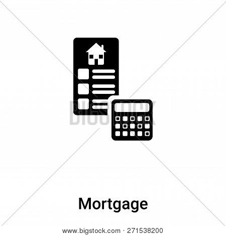 Mortgage Icon In Trendy Design Style. Mortgage Icon Isolated On White Background. Mortgage Vector Ic