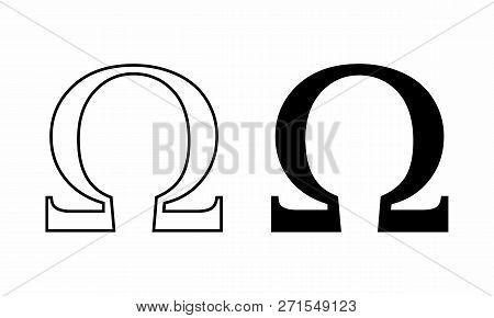 Black And White Illustration Of Ohm Symbols
