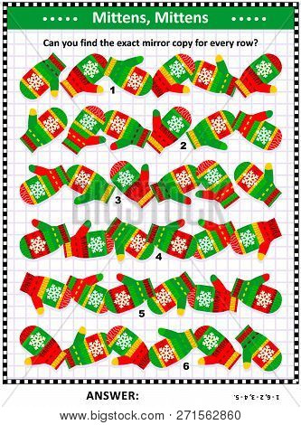 Winter, Winter Holidays, Christmas Or New Year Visual Puzzle (suitable Both For Kids And Adults): Ma