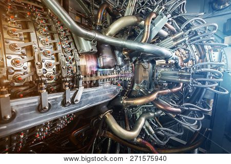 Gas turbine engine of feed gas compressor located inside pressurized enclosure, The gas turbine engine used in offshore oil and gas central processing platform. poster