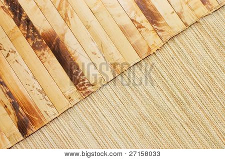 Bamboo mat may be used as background