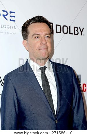 LOS ANGELES - NOV 29:  Ed Helms at the 32nd American Cinematheque Award at the Beverly Hilton Hotel on November 29, 2018 in Beverly Hills, CA