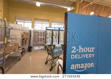 2-hour Delivery Service Section At Whole Foods For Amazon Prime Member